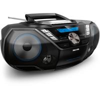 Philips 12W RMS, DAB+/DAB/FM, USB, Audio in, LCD, 220-240V/6 x LR20, 3 kg CD-radio - Zwart