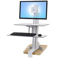 Ergotron WorkFit-S Multimedia karren & stands - Wit