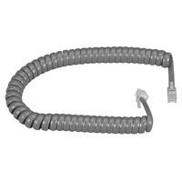 Black Box Coiled Handset Cord Telefoon kabel - Grijs