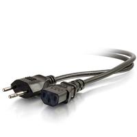 C2G 2m, SEV 1011 - C13 IEC Cordon d'alimentation - Noir