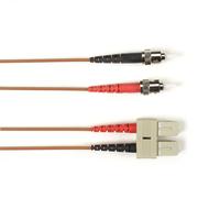 Black Box Câble de raccordement OM3 multimode coloré - LSZH Duplex Câble de fibre optique - Marron