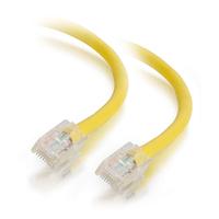 C2G Câble de raccordement réseau Cat5e sans gaine non blindé (UTP) de 0.5M - Jaune Câble de réseau