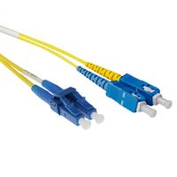 ACT 0.5 metre LSZH Singlemode 9/125 OS2 short boot fiber patch cable duplex with LC and SC connectors Câble de .....