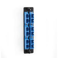 Black Box Platine de raccordement fibre Panneau de brassage - Bleu