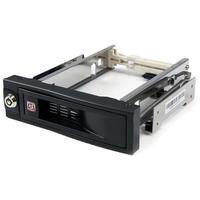 StarTech.com 5,25 inch Hot-Swappable Mobile Rack voor 3,5 inch Harde Schijf Drive bay paneel - Zwart