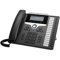 Cisco 7861 Téléphone IP - Noir, Argent