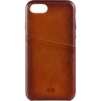 SENZA Desire Leather Cover with Card Slot Apple iPhone 7/8 Burned Cognac