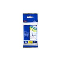 Brother 12 mm blauw op witte tape gelamineerd Labelprinter tape