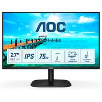 AOC Basic-line 27 inch 1920x1080@75Hz 7 ms IPS HDMI 1.4 x 1, VGA Monitor - Zwart