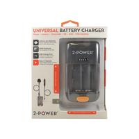 2-Power Universal Camera Battery Charger-Retail Oplader