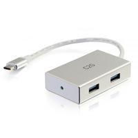 C2G Concentrateur USB-C avec 4 ports USB-A Hub d'interface - Argent