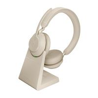 Jabra Evolve2 65, MS Stereo Headset - Beige