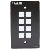 Black Box 70x114x28mm, 150g, Black Druk-knop panelen - Zwart