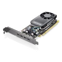 Lenovo Nvidia Quadro P620, 2 GB GDDR5, Mini DPx4, Graphics Card with HP Bracket Videokaart - Zwart
