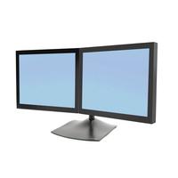 Ergotron DS Serie DS100 Dual Monitor Desk Stand, Horizontal Monitorarm - Zwart