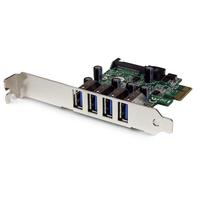 StarTech.com Carte contrôleur PCI Express à 4 ports USB 3.0 SuperSpeed - Adaptateur PCIe avec UASP et .....
