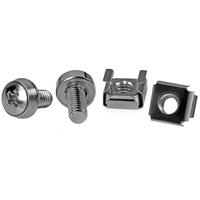 StarTech.com Paquet de 50 Vis et Ecrous Cages M6 pour Rack ou Armoire Serveur Vis et boulons - Argent