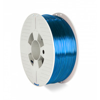 Verbatim 2.85 mm, PET-G, 8.1 KJ/m2, Blue - Bleu,Transparent