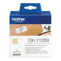 Brother DK Die-Cut label: 62 mm x 29 mm - Klein adreslabel - wit (800 labels/rol) Labelprinter tape