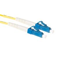 ACT 1,5m LSZH Singlemode 9/125 OS2 glasvezel patchkabel simplexmet LC connectoren Fiber optic kabel - Blauw,Geel