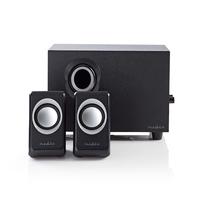 Nedis PC speaker, 2.1, 33 W, 3.5mm Jack Luidspreker set - Zwart
