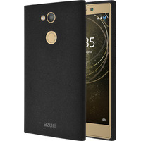 Azuri Flexible cover with sand texture - zwart - for Sony Xperia L2