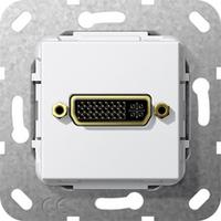 GIRA Basiselement DVI (24+5) Verloopkabel, zuiver wit glanzend Dop aansluitdoos