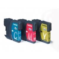 Brother Voordeelverpakking LC-1100C,M,Y Cartouche d'encre - Cyan,Magenta,Jaune