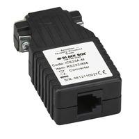 Black Box RS-232 to RS-485, (DB9 M - RJ-11), 115.2 kbps Seriële coverters/repeaters/isolatoren - Zwart