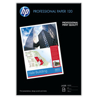 HP Professional Laser Paper, glanzend Glossy 120 gsm-250 sht/A3/297 x 420 mm Papier - Wit