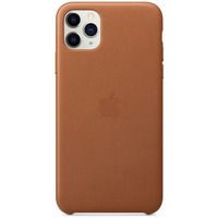 Apple Coque en cuir pour iPhone 11 Pro Max Havane - Marron