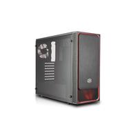 Cooler Master MasterBox E500L Boîtier d'ordinateur - Noir, Rouge