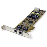 StarTech.com Carte Réseau PCI Express 2 ports Gigabit Ethernet RJ45 10/100/1000Mbps - POE/PSE Carte de .....