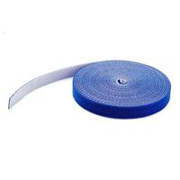 StarTech.com 15,2 m klittenband blauw Kabelbinder