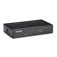 Black Box 4x 10/100/1000-Mbps RJ-45, 1x SFP, IEEE 802.3x, 130 x 77 x 24 mm, 280 g Switch - Noir