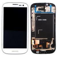 Samsung GT-I9301 Galaxy S3 Neo, Complete Front+LCD+Touchscreen, white Pièces de rechange de téléphones mobiles