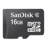 Sandisk microSDHC 16GB Card Class 2 Flashgeheugen - Zwart