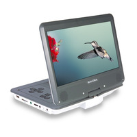 """Salora Een 10,2"""" (26CM) portable DVD speler met USB/SD en auto montage set Ontvanger - Grijs,Wit"""