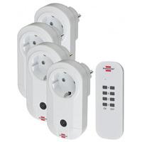 Brennenstuhl Comfort-Line Radiografisch bediende schakelaarset 4x IP20 Netstekker/adapter - Wit