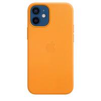 Apple Coque en cuir avec MagSafe pour iPhone 12 mini - Pavot de Californie - Orange