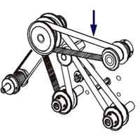 Zebra 45189-18 Printer belt - Zwart