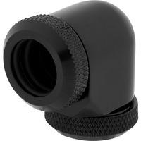 Corsair Hydro X Series XF Hardline 90° 12mm OD Fitting Twin Pack — Black Accessoire de matériel de .....