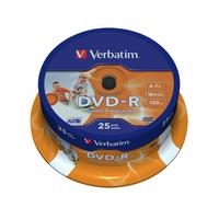 Verbatim DVD-R Wide Inkjet Printable ID Brand, 16x (her)schrijfbare DVD