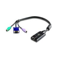 Aten Adaptateur KVM VGA PS/2 avec prise en charge de la vidéo composite Câbles KVM