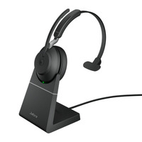 Jabra Evolve2 65, USB-C MS Teams Mono met oplaadhouder Headset - Zwart