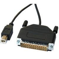 ROLINE converter kabel Parallel DB25 naar USB Parallel-kabel - Zwart
