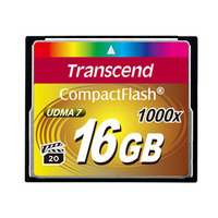 Transcend CompactFlash Card 1000x 16GB Flashgeheugen - Zwart