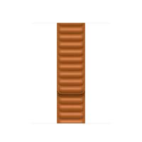 Apple Leather Link-bandje - Goudbruin (41 mm) - S/M