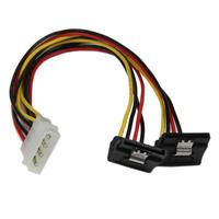 StarTech.com Câble répartiteur d'alimentation en Y LP4 vers 2 SATA à angle droit et verrouillage 30 cm - .....