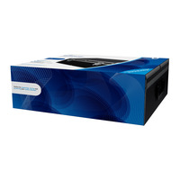 MediaRange Media storage case for 500 discs, aluminum look, with hanging sleeves, black - Noir